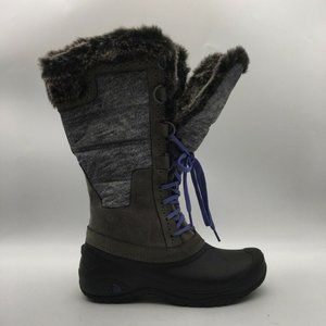 The North Face Womens Boots Gray Purple Lace Up 8